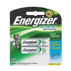 ENERGIZER Battery Rechargeable AA 2Pk 1400mah