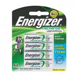 ENERGIZER Battery Rechargeable AA 4Pk 1400mah