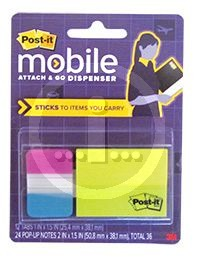 Post-It Mobile Attach & Go Notes And Tabs Dispenser