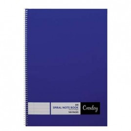 Note Book, Wiro Bound, A4, 100 Pages, JD377, Croxley wiro notebook