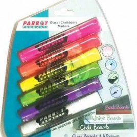 Parrot Glass/Chalk/Whiteboard Markers