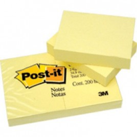 Post-It Note 653 Pads 38mm x 50mm