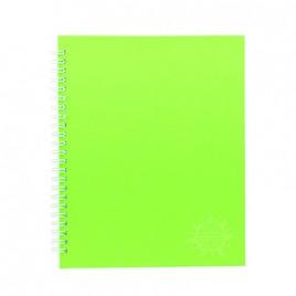 Primeline note book A4 wiro fluorescent 100pg 306mmx230mm WIR20236WAL (Purple)