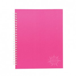 Primeline note book A4 wiro fluorescent 100pg 306mmx230mm WIR20236WAL (Pink)