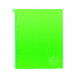 Primeline note book A5 wiro fluorescent 100pg 218mmx168mm WIR20107WAL (Lime)