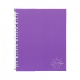 Primeline note book A5 wiro fluorescent 100pg 218mmx168mm WIR20107WAL (Purple)