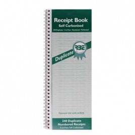 RBE Receipt Book NCR Dupl. 5 to view FO201
