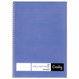 Student Notebook, Wiro Bound, A5, Feint Ruled, 100 Pages, JD127, Croxley wiro notebook